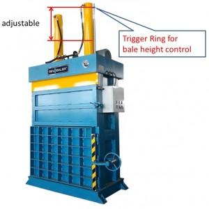 Adjust bale height by adjusting trigger ring
