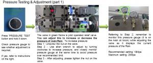 Adjust pressure for main ram