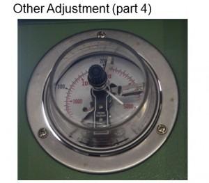 Adjust pressure for electro-connecting pressure gauge