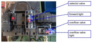 Check valve on hydraulic baler