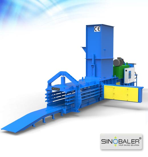 Open-end Manual-tie Horizontal Baler With Wire Threader